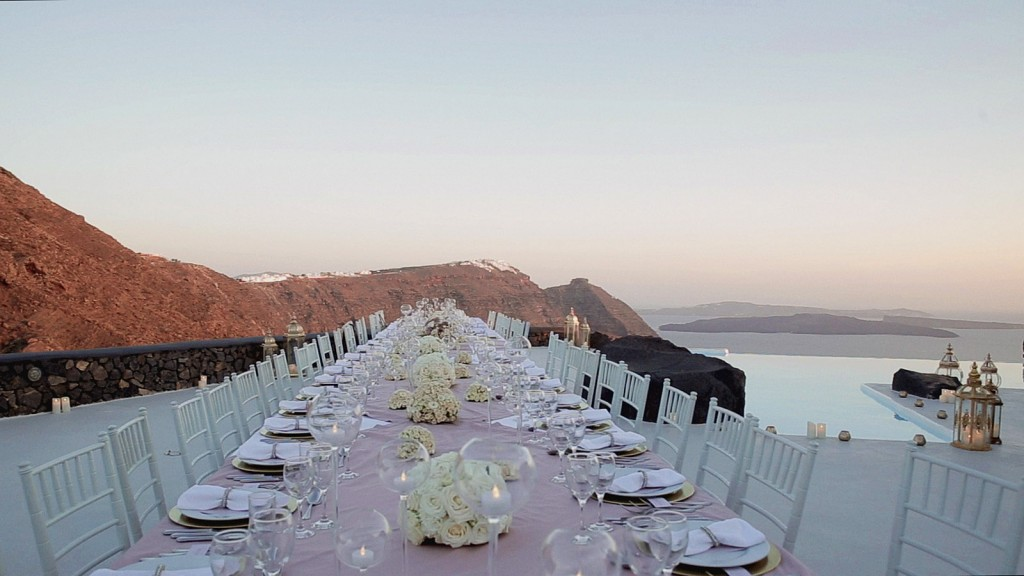 wedding video in santorini